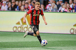 October 21, 2018 - Atlanta, GA, U.S. - ATLANTA, GA Ð OCTOBER 21:  Atlanta's Julian Gressel (24) moves the ball up the field during the match between Atlanta United and the Chicago Fire on October 21st, 2018 at Mercedes-Benz Stadium in Atlanta, GA.  Atlanta United FC defeated the Chicago Fire by a score of 2 to 1.  (Photo by Rich von Biberstein/Icon Sportswire) (Credit Image: © Rich Von Biberstein/Icon SMI via ZUMA Press)