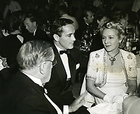 1940's Mary Pickford and husband, Buddy Rogers, at Ciro's Nightclub on Sunset Blvd.