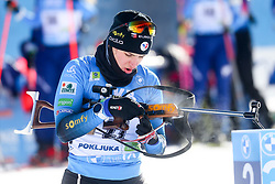 Julia Simon of France competes during the IBU World Championships Biathlon Women's 7,5 km Sprint Competition on February 13, 2021 in Pokljuka, Slovenia. Photo by Primoz Lovric / Sportida