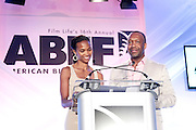 Miami Beach, Florida, NY-June 23: (L-R) Nicole Friday and Jeff Friday, Founder, The American Black Film Festival attends the 2012 American Black Film Festival Winners Circle Awards Presentation held at the Ritz Carlton Hotel on June 23, 2012 in Miami Beach, Florida. (Photo by Terrence Jennings)