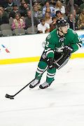 DALLAS, TX - NOVEMBER 1:  Alex Chiasson #12 of the Dallas Stars controls the puck against the Colorado Avalanche on November 1, 2013 at the American Airlines Center in Dallas, Texas.  (Photo by Cooper Neill/Getty Images) *** Local Caption *** Alex Chiasson