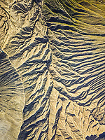 Abstract aerial view of Volcano Bromo relief in Indonesia.