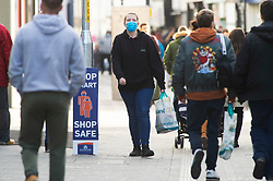 © Licensed to London News Pictures. 01/12/2020. <br /> Maidstone, UK. A busy Maidstone High Street in Kent this afternoon with most people wearing masks outside. Kent has some of the worst effected Coronavirus areas in England which has seen the county placed in tier 3 from tomorrow when lockdown ends. Photo credit:Grant Falvey/LNP