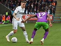 Football - 2018 / 2019 Sky Bet EFL Championship - Swansea City vs. Bristol City<br /> <br /> Barrie McKay of Swansea City attacks Niclas Eliasson of Bristol City , at Liberty Stadium.<br /> <br /> COLORSPORT/WINSTON BYNORTH