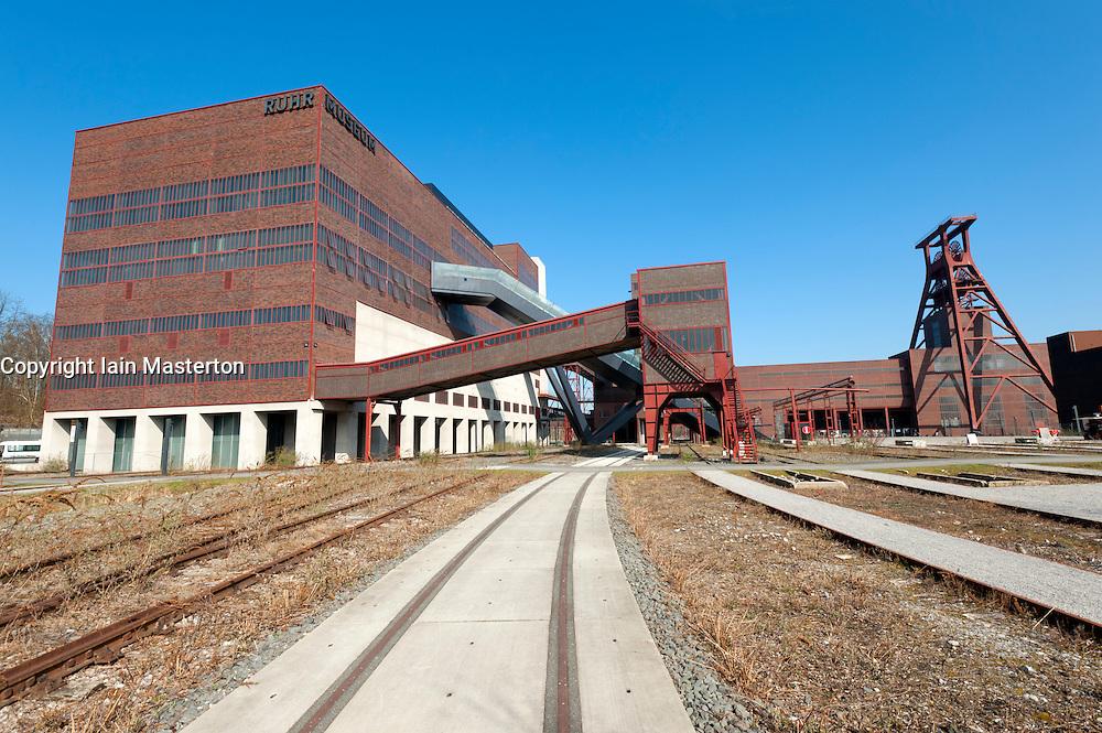 External view of former coal mine at Zollverein in Essen Germany  now UNESCO World Heritage site