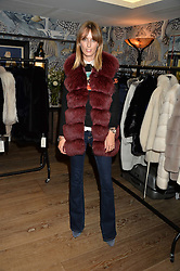 LADY ALICE MANNERS at the Mila Furs Trunk Show held at the Haymarket Hotel, 1 Suffolk Place, London on 1st November 2016.