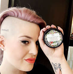 """Kelly Osbourne releases a photo on Instagram with the following caption: """"Very excited about #AmazonianSaviour from @thebodyshop. It\u2019s made from only 9 ingredients and is my new go-to multi-purpose balm for everything from dry skin and chapped lips to \u2013 my personal fave - tattoo healing and brightening! And it\u2019s of course #ForeverAgainstAnimalTesting #thebodyshop #ad"""". Photo Credit: Instagram *** No USA Distribution *** For Editorial Use Only *** Not to be Published in Books or Photo Books ***  Please note: Fees charged by the agency are for the agency's services only, and do not, nor are they intended to, convey to the user any ownership of Copyright or License in the material. The agency does not claim any ownership including but not limited to Copyright or License in the attached material. By publishing this material you expressly agree to indemnify and to hold the agency and its directors, shareholders and employees harmless from any loss, claims, damages, demands, expenses (including legal fees), or any causes of action or allegation against the agency arising out of or connected in any way with publication of the material."""