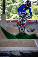 #284 (TOMIZIOLI Michele) ITA at Round 5 of the 2019 UCI BMX Supercross World Cup in Saint-Quentin-En-Yvelines, France