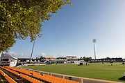 Ground view of Grace Rd on last day of the season during the Specsavers County Champ Div 2 match between Leicestershire County Cricket Club and Lancashire County Cricket Club at the Fischer County Ground, Grace Road, Leicester, United Kingdom on 26 September 2019.
