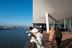 Elbphilharmonie, Hamburg, Germany; Viewing platform at  new opera house in Hamburg, Germany.