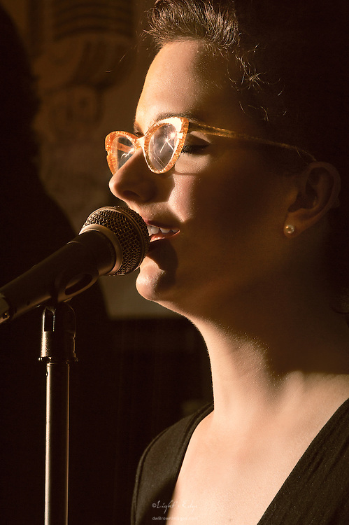 Linsey Seifert performing with Pinewolf and The Pacd during their last show at The Bus Stop Music Cafe in Pitman, NJ.