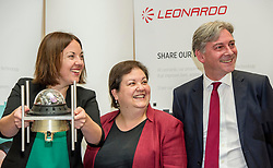 Pictured: Scottish Labour leader Kezia Dugdale, Shadow Economy Secretary Jackie Baillie and Shadow Economy minister Richard Leonard<br /> Scottish Labour leader Kezia Dugdale, Shadow Economy Secretary Jackie Baillie and Shadow Economy minister Richard Leonard visited Leonardo Airborne and Space Systems today to launch Scottish Labour's industrial strategy. <br />  <br /> Ger Harley | EEm 6 July  2017