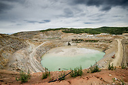 A view of the pit from the top level, Capstone Minto Mine, Yukon Territory.