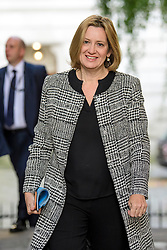 © Licensed to London News Pictures. 12/09/2017. London, UK. Home secretary AMBER RUDD arrives at 10 Downing Street in London ahead of a cabinet meeting.  In the early hours of this morning government won a vote in Commons passing the EU repeal bill, by a margin of 326 to 290 votes. Photo credit: Ben Cawthra/LNP