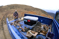 John Cox Collecting Deer Bait For Traps