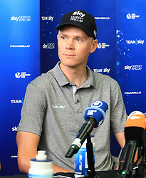 Team Sky's Chris Froome during the Team Sky Media Event in Saint-Mars-la-Reorthe, France.