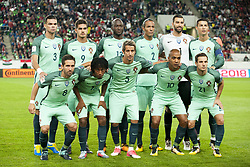 September 3, 2017 - Budapest, Hungary - The Portuguese national football team poses for photo during the FIFA World Cup 2018 Qualifying Round match between Hungary and Portugal at Groupama Arena in Budapest, Hungary on September 3, 2017  (Credit Image: © Andrew Surma/NurPhoto via ZUMA Press)
