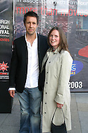 Actor Paddy Considine arrives  with his wife Shelly at the UGC cinema for the gala screening of his latest film 'In America' in which he stars with Samantha Morton. The film is being screened at the annual Edinburgh International Film Festival which runs until 24th August...