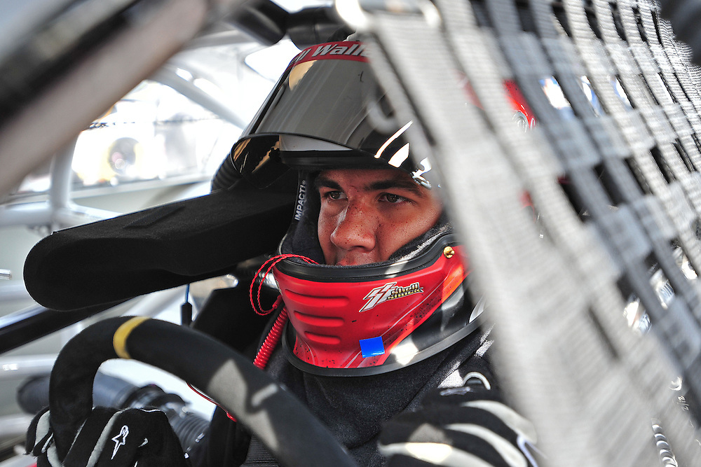 JEFFERSON, GA - JUNE 9, 2012: Darrell Wallace Jr., driver of the #18 Toyota during practice for the NASCAR K&N Pro Series East Slack Auto Parts 150 held at Gresham Motorsports Park in Jeffereson, GA on June 9, 2012. Photo by Kevin Liles/kevindliles.com