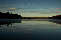 Moon shining over Walden Pond.