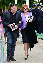 Michael Winner public memorial.  <br /> (R) Cilla Black during the Memorial.<br /> Memorial takes place at the National Police Memorial. The film director and food critic helped establish, following his death on January 23 2013. <br /> Geraldine Winner, Sir Michael Parkinson, Sir Michael Caine, Sir Roger Moore, Cilla Black, Carol Vorderman, Sir Terence Conran, give eulogies, <br /> London, United Kingdom<br /> Sunday, 23rd June 2013<br /> Picture by Nils Jorgensen / i-Images