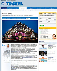 Tearsheet from The Telegraph; Berlin shopping street