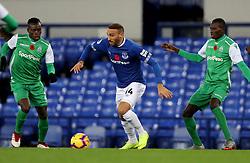 Everton's Cenk Tosun gets past Gor Mahia's Sammy Onyango (left) and Karim Nigiziyimana during the SportPesa Trophy match at Goodison Park, Liverpool.