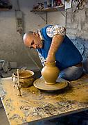 Making terrecota pots at Fabio Fattorini Ceramics in Italy