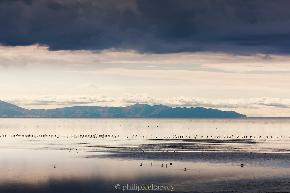View from Antelope Island State park overlooking The Great Salt Lake, Utah, United States of America