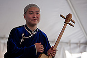 Ayan-ool Sam of the Tuvan throat-singing group Alash at the Lowell Folk Festival, 25 July 2009.