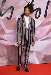 Jaden Smith attending The Fashion Awards 2016 at The Royal Albert Hall in London. <br /> <br /> Picture Credit Should Read: Doug Peters/ EMPICS Entertainment