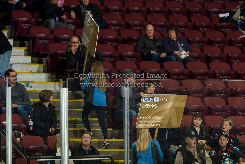 KELOWNA, CANADA - DECEMBER 5: BCAA  promotion during intermission at the Kelowna Rockets against the Tri-City Americans on December 5, 2018 at Prospera Place in Kelowna, British Columbia, Canada.  (Photo by Marissa Baecker/Shoot the Breeze)