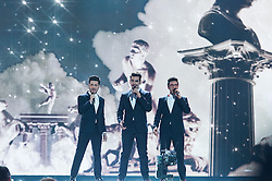 "19.05.2015, Stadthalle, Wien, AUT, Eurovision Songcontest Vienna 2015, Zweite Probe der großen Fünf, im Bild die Band Il Volo aus Italien // the band ""Il Volo"" from Italy during 2nd rehearsal of the big five plus Austria and Australia for Eurivision Songcontest Vienna 2015 at Stadthalle in Vienna, Austria on 2015/05/19, EXPA Pictures © 2015, PhotoCredit: EXPA/ Michael Gruber"