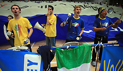Fans of Trentino at volleyball match of CEV Indesit Champions League Men 2008/2009 between Trentino Volley (ITA) and ACH Volley Bled (SLO), on November 4, 2008 in Palatrento, Italy. (Photo by Vid Ponikvar / Sportida)