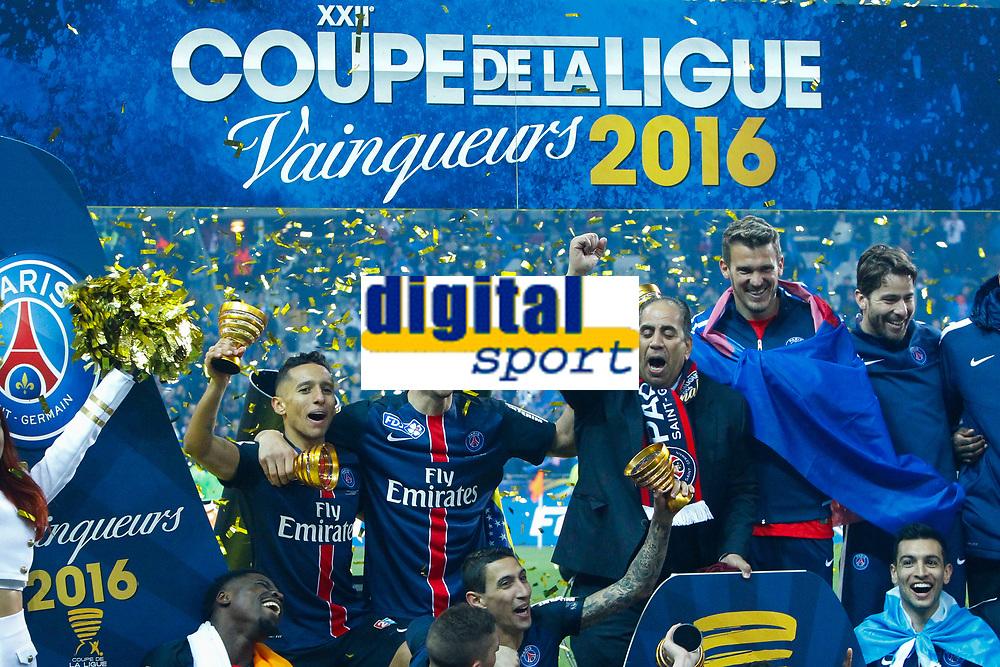 joie Marquinhos (PSG) / Zlatan Ibrahimovic (PSG) / equipe (PSG)