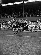23/9/1959<br /> 9/23/1959<br /> 23 September 1959 <br /> Soccer, football: European Cup, Shamrock Rovers v Nice at Dalymount Park, Dublin. Teams exiting tunnel