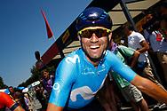 Alejandro Valverde (ESP - Movistar) during the Tour de France 2018, Stage 4, Team Time Trial, La Baule - Sarzeau (195 km) on July 10th, 2018 - Photo Luca Bettini / BettiniPhoto / ProSportsImages / DPPI
