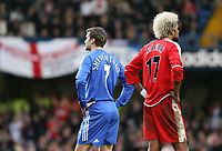Shevchenko of Chelsea and Xavier of Middlesbrough look apart