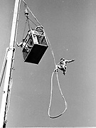 Crane bungee jump, 1984, © Copyright Photograph by Dafydd Jones 66 Stockwell Park Rd. London SW9 0DA Tel 020 7733 0108 www.dafjones.com