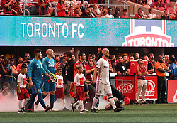 August 4, 2018 - Atlanta, GA, USA - Atlanta, Georgia - Saturday, August 4, 2018: Atlanta United drew with Toronto FC, 2-2, in front of a crowd of 45,191 at Mercedes-Benz Stadium. (Credit Image: © Perry Mcintyre/ISIPhotos via ZUMA Wire)