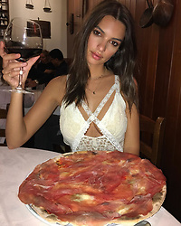 """Emily Ratajkowski releases a photo on Instagram with the following caption: """"When in Italy \ud83c\uddee\ud83c\uddf9"""". Photo Credit: Instagram *** No USA Distribution *** For Editorial Use Only *** Not to be Published in Books or Photo Books ***  Please note: Fees charged by the agency are for the agency's services only, and do not, nor are they intended to, convey to the user any ownership of Copyright or License in the material. The agency does not claim any ownership including but not limited to Copyright or License in the attached material. By publishing this material you expressly agree to indemnify and to hold the agency and its directors, shareholders and employees harmless from any loss, claims, damages, demands, expenses (including legal fees), or any causes of action or allegation against the agency arising out of or connected in any way with publication of the material."""