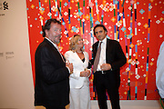 STEWARD MISON; LYN MISON; NICHOLAS DE SANTIS, Korean Eye Dinner  hosted by The Dowager Viscountess Rothermere and Simon De Pury.Sponsored by CJ, Korean Food Globalization Team, Hino Consulting and Visit Korea Committee. Phillips de Pury Space, Saatchi Gallery.  Sloane Sq. London. 2 July 2009.