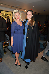 Left to right, NATALIE COYLE and BRYONY DANIELS at a private screening of Eating Happiness in association with the World Dog Alliance held at Mondrian London, 20 Upper Ground, London on 25th January 2016.