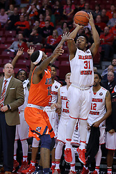 10 December 2016:   Javaka Thompson(31) during an NCAA  mens basketball game between the UT Martin Skyhawks and the Illinois State Redbirds in a non-conference game at Redbird Arena, Normal IL
