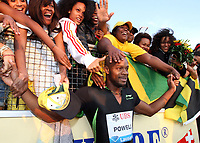 Lausanne, 30.6.2011, Leichtathletik, Athletissima, Diamond League, 100m Maenner, Asafa Powell (JAM). (Pascal Muller/EQ Images)