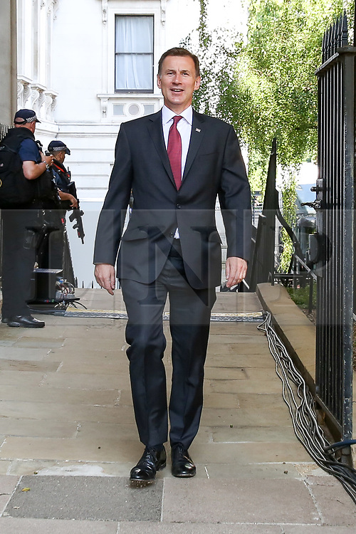 © Licensed to London News Pictures. 23/07/2019. London, UK. Foreign Secretaryand Conservative Party leadership contender Jeremy Hunt  arrives in Downing Street to attend Theresa May's final Cabinet meeting. Photo credit: Dinendra Haria/LNP
