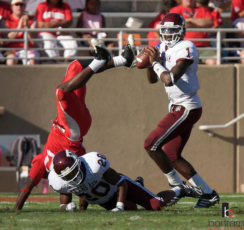 Texas A&M quarterback Jerrod Johnson at the University of New Mexico on Saturday, Sept. 6, 2008 in Albuquerque, New Mexico.