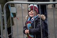 A young Burnley looks on as he waits for players to arrive during the The FA Cup 3rd round match between Burnley and Barnsley at Turf Moor, Burnley, England on 5 January 2019.