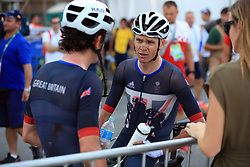 Great Britain's Chris Froome and Geraint Thomas following the Men's Road race which takes place at Fort Copacabana on the first day of the Rio Olympics Games, Brazil.