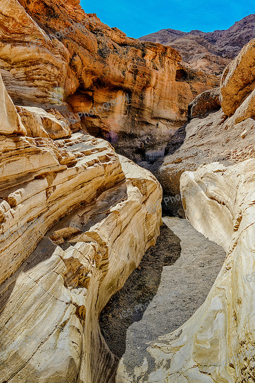 Water-polished marble walls of Mosaic Canyon, Death Valley